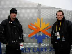 Jason Trowbridge and I at the 2002 Salt Lake Opening Ceremonies