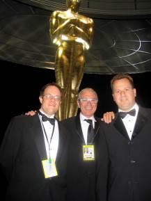 Bob Dickinson, Bob Barnhart and myself @ the 2006 Academy Awards