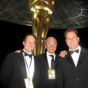 Bob Dickinson, Bob Barnhart and myself @ the 2006 Academy Awards